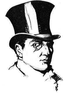 Victorian fashion man with top hat