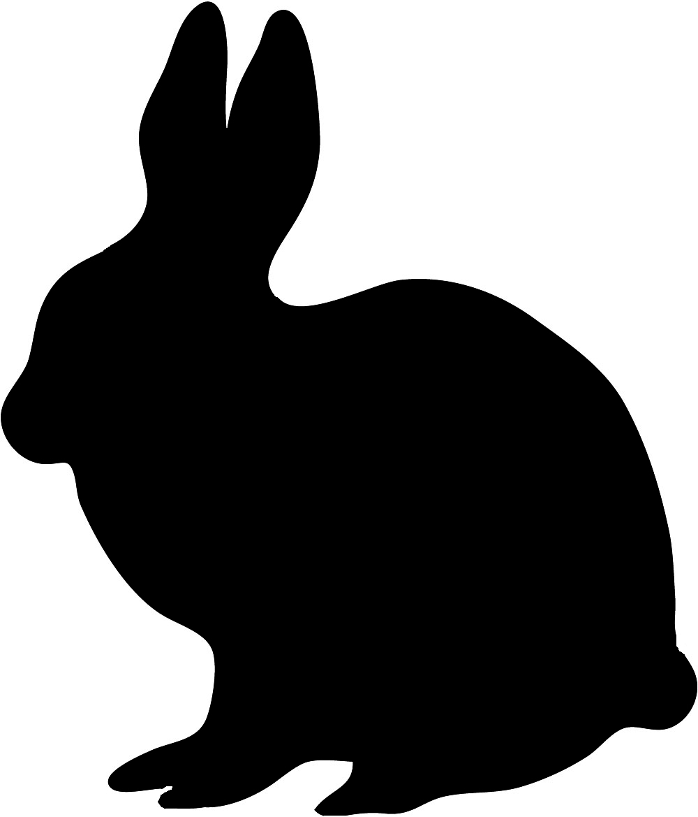 silhouette of sitting hare