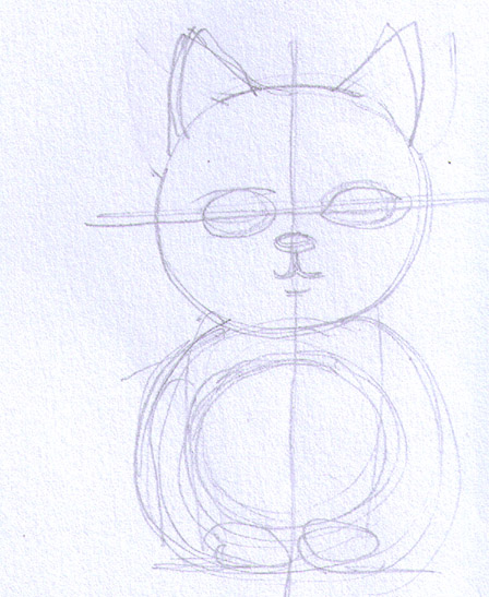 manga-like kitten drawing 1