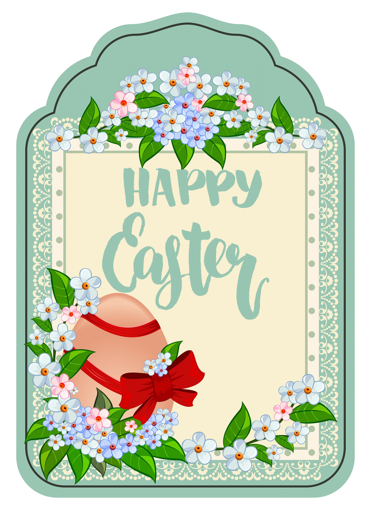 happy Easter greeting clipart