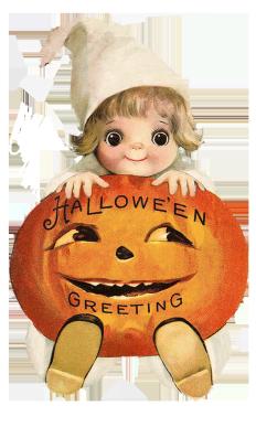 cute child with pumpkin head