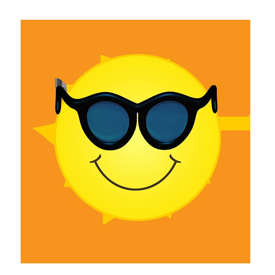 sun like a sun flower clipart