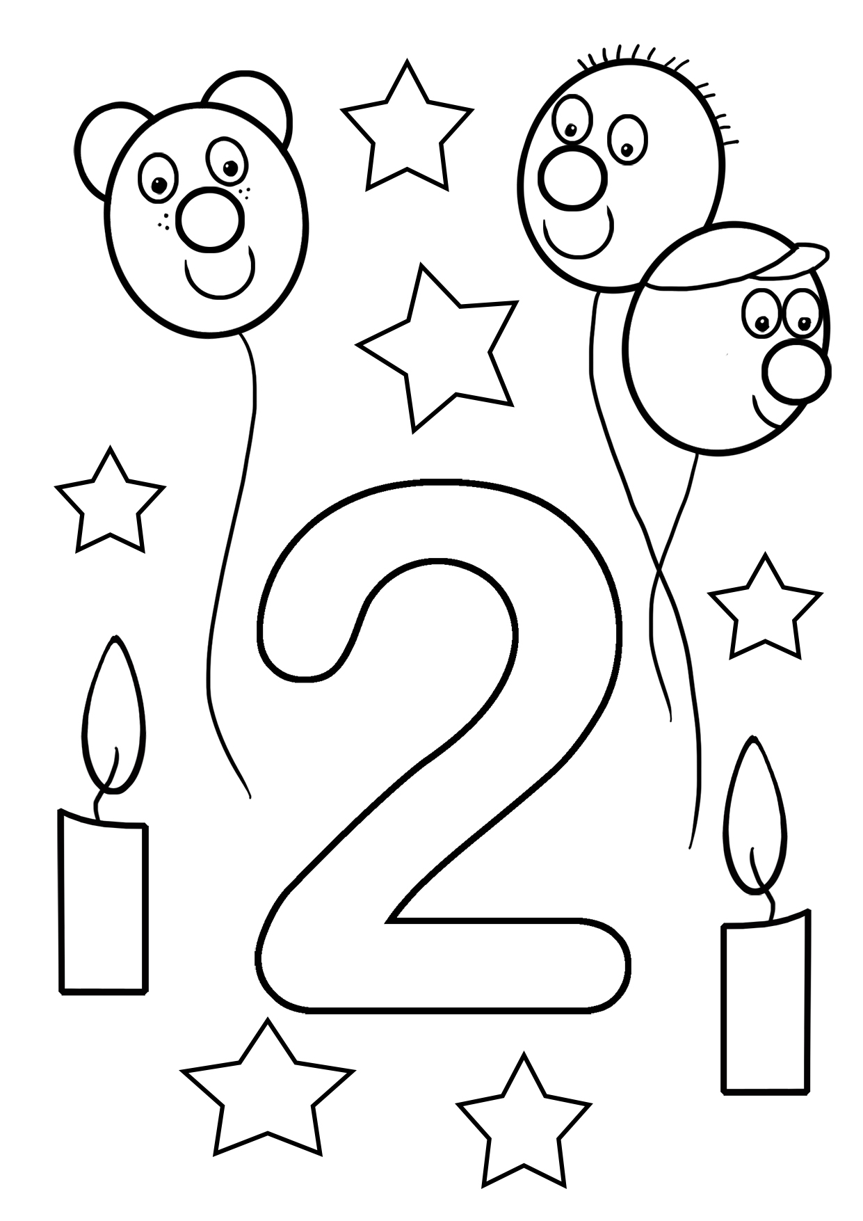2nd birthday coloring sheet