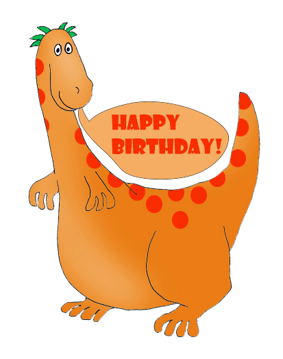 dinosaur birthday greeting