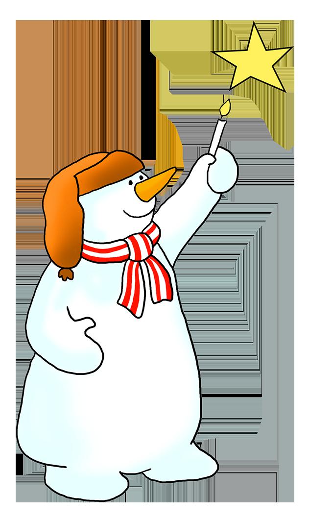 snowman clipart star winter