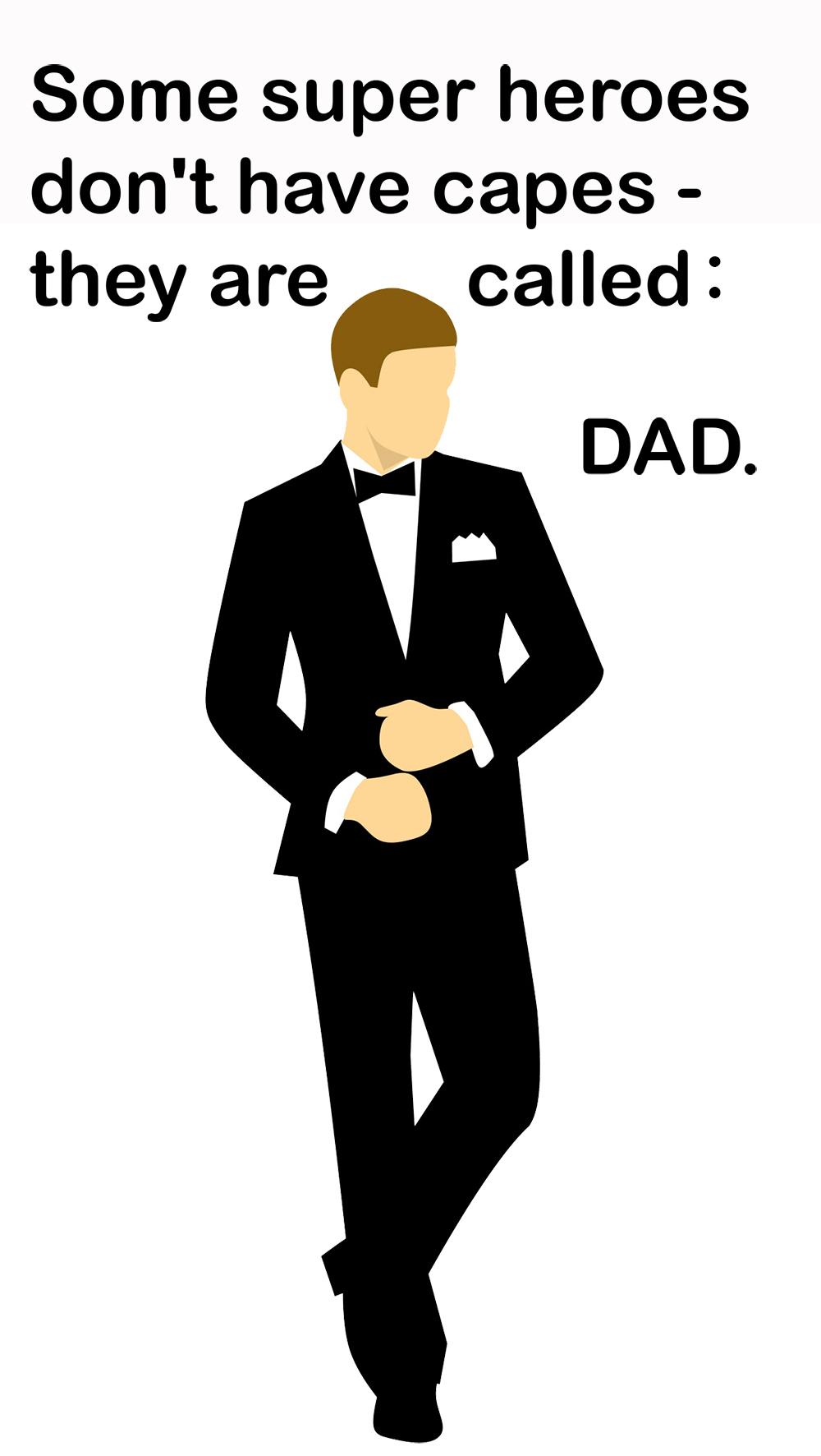 superhero dad greeting