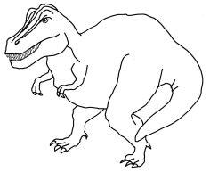 dinosaur coloring page Tyrannosaurus Rex
