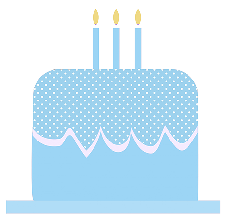 blue birthday cake clip art
