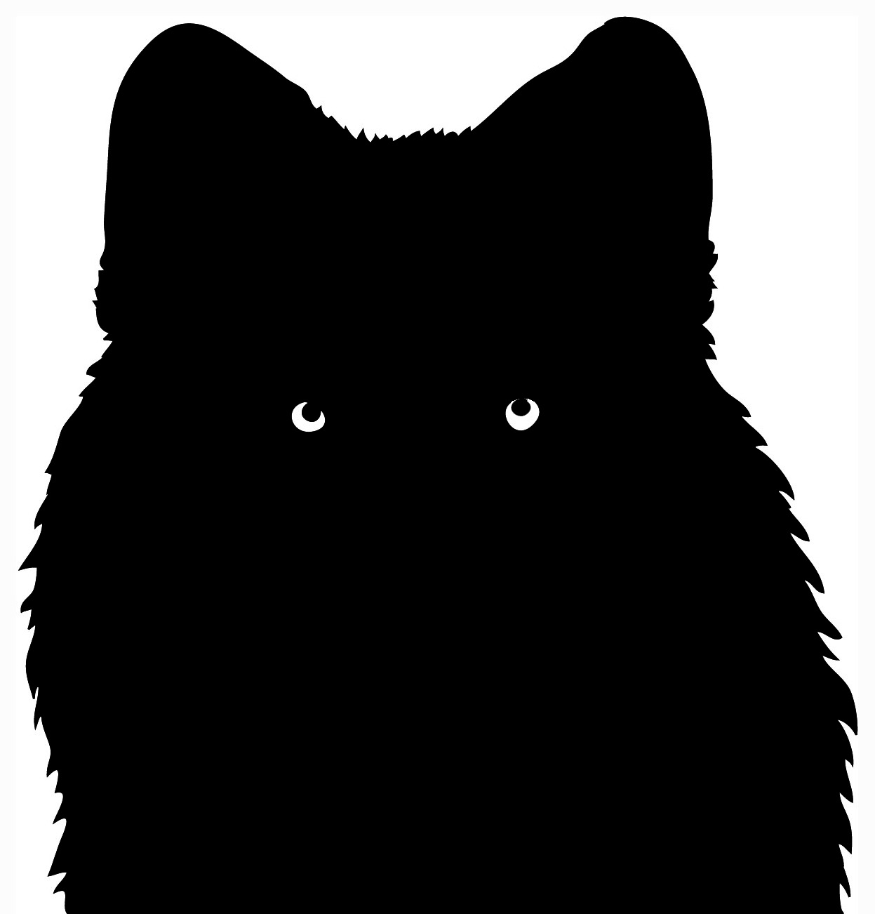 silhouette of head of wolf