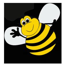 bee clipart funny bee cartoon
