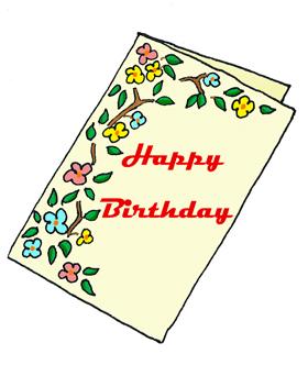 happy birthday graphics card