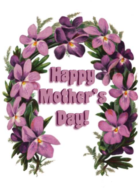 Mother's day greeting with flowers