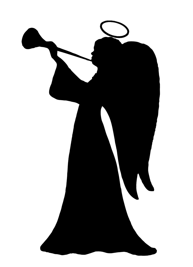 angel silhouette clipart