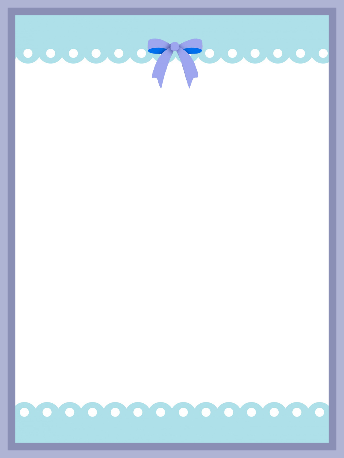 soft blue frame with blue bow