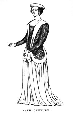 woman's dress 14th century Medieval ages
