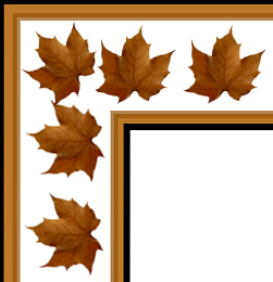 fall leaves clip art border corner