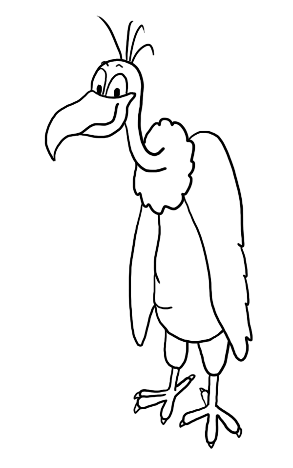 Happy vulture clip art