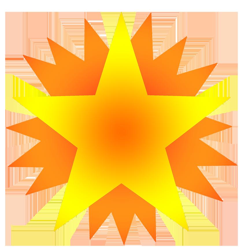 yellow star on orange stars image