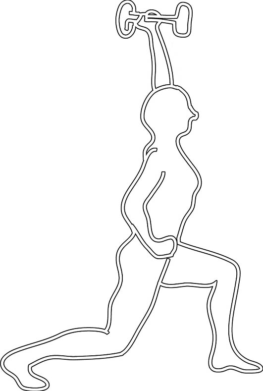 Outline woman fitness
