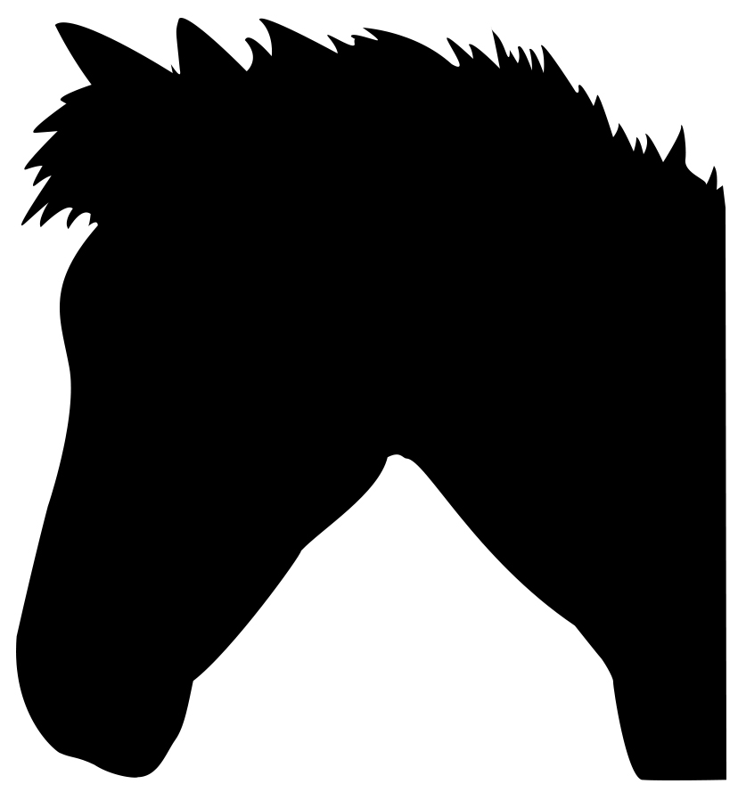 cute horse head silhouette