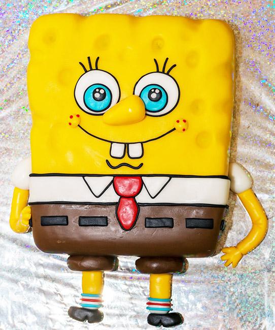 Sponge-Bob birthday cake