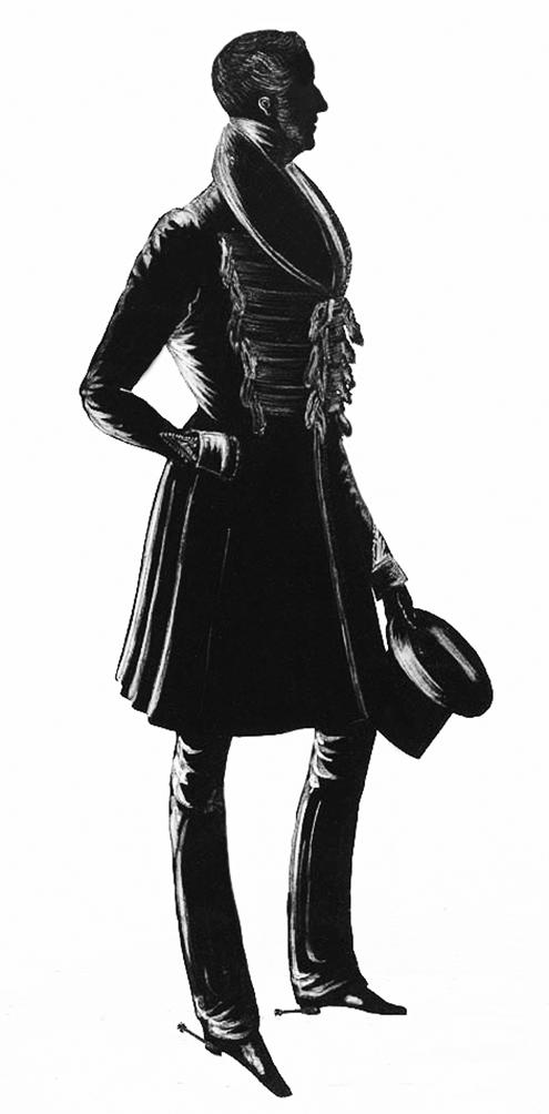 Gentleman Victorian era silhouette