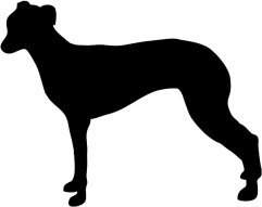 silhouette graphics dog