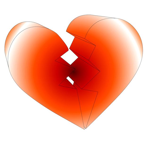 broken heart clipart