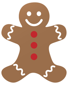 ginger bread man clipart