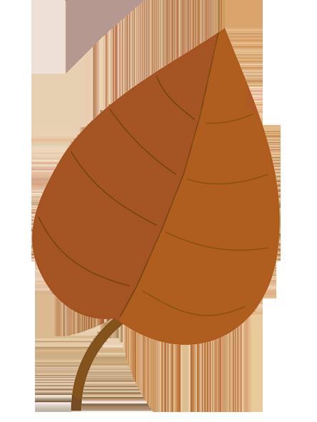 light brown fall leaf clip art