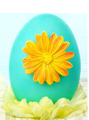 Easter clip art egg with flower