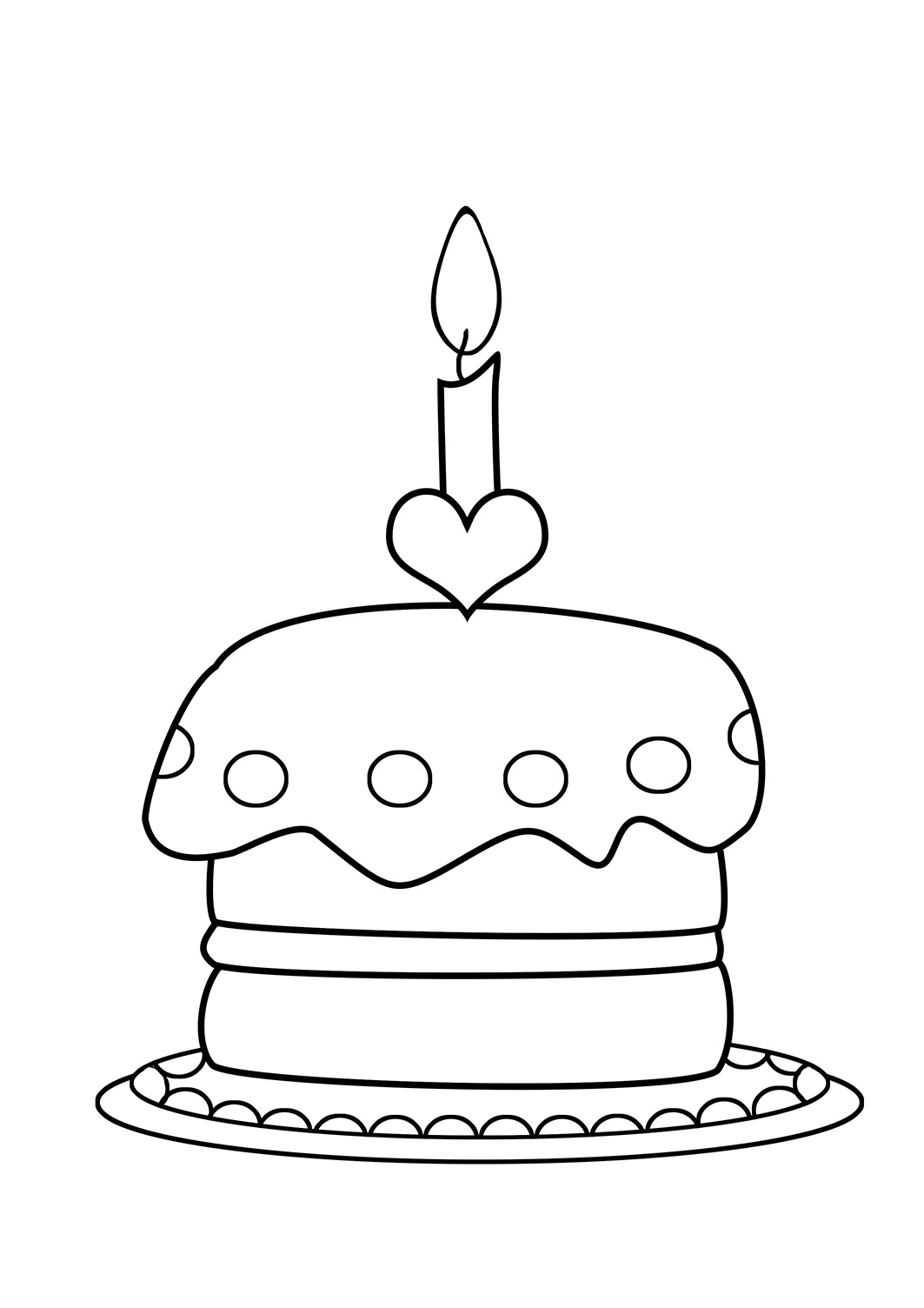 Coloring pages birthday cake - Birthday Cake Coloring Pages Funny Birthday Balloons To Color