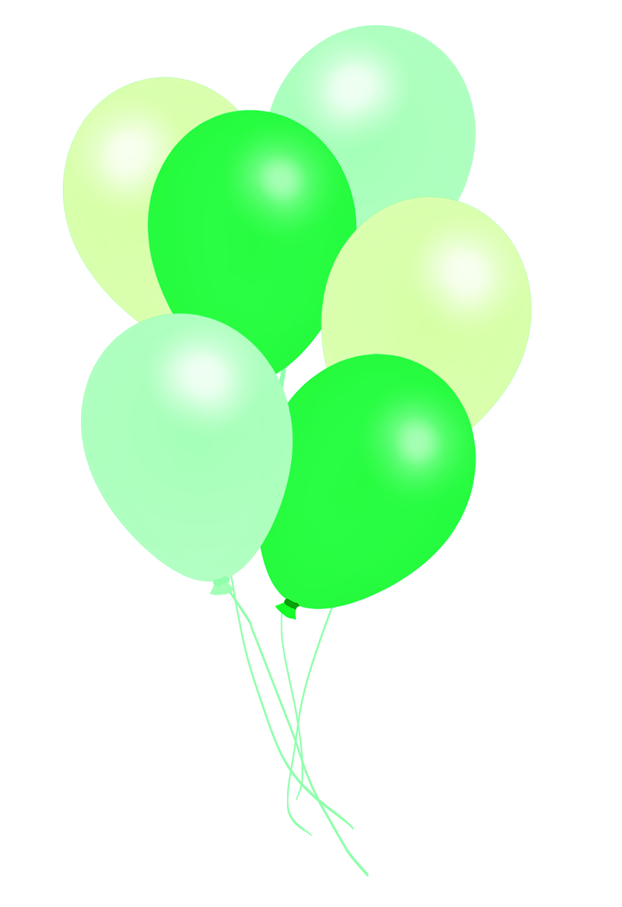 balloons images green