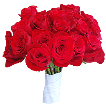 bouquet of red roses for wedding