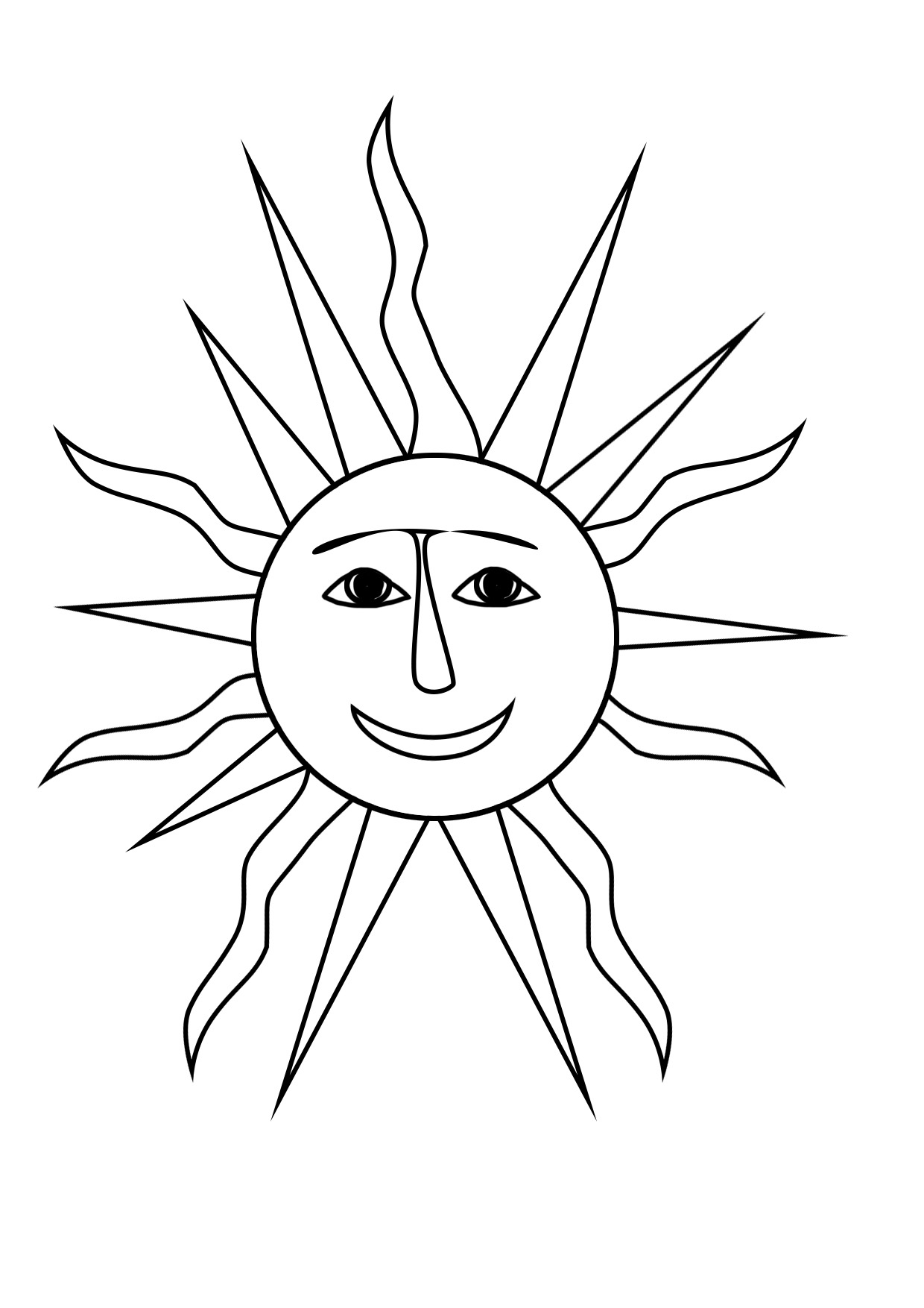 summer coloring pages with suns