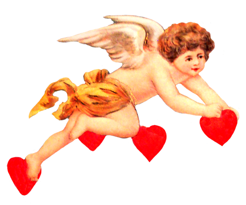 Valentine cupid clip art