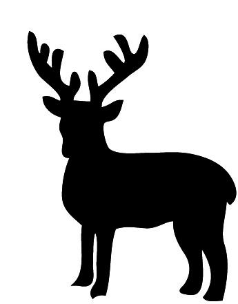 Free silhouette of reindeer