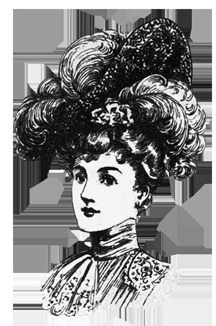 1905 Victorian Edwardian hat fashion