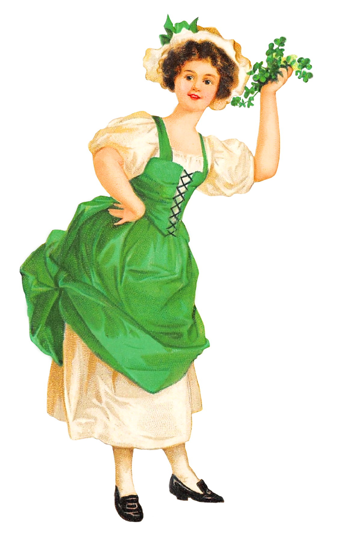 St. Patrick's day girl with clover