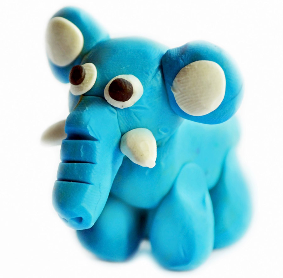 cute blue elephant
