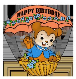 Vintage happy birthday greeting