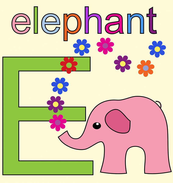 alphabet-letter-e-elephant