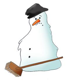 melting snowman clipart