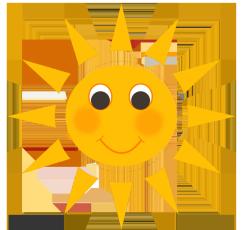 happy baby sun