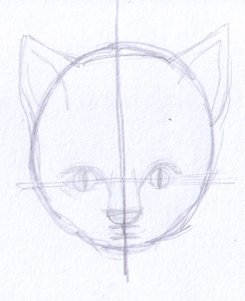 second drawing of cat's head