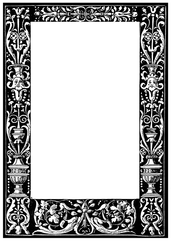 dark victorian picture frame