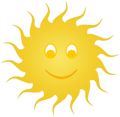 sun clip art smiling