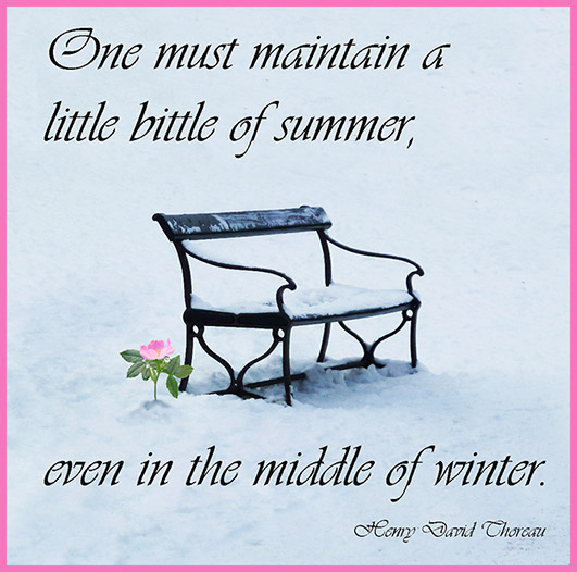 picture quote about winter