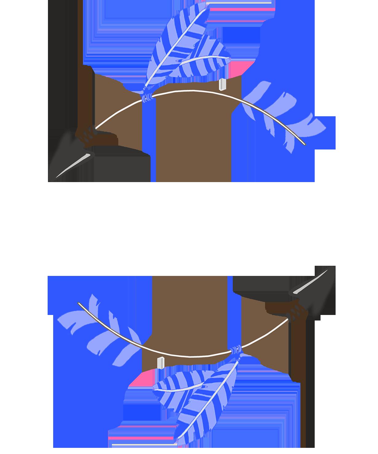 circle tribal arrow clipart blue