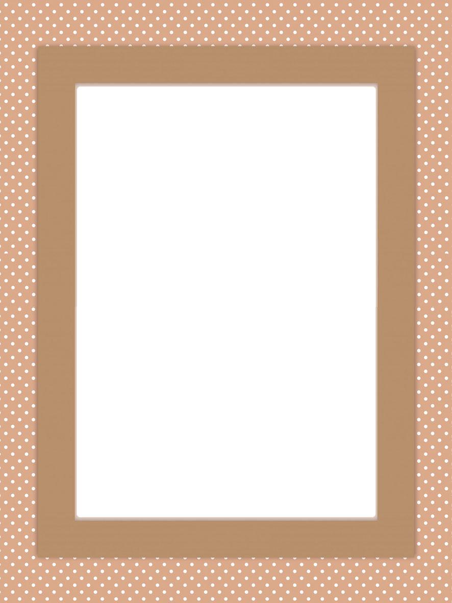 printable frame brown
